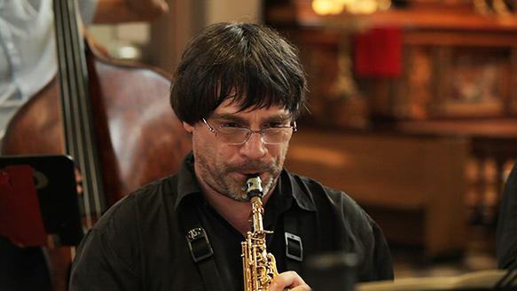 Yannick Rieu - saxophone soprano (Gloria de Sylvain Picard 6 juillet 2013 à l'église du Gesù)