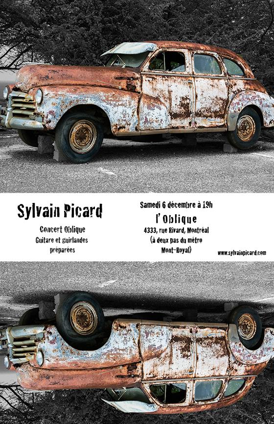 Concert Oblique - Picard, guitare et guirlandes préparées
