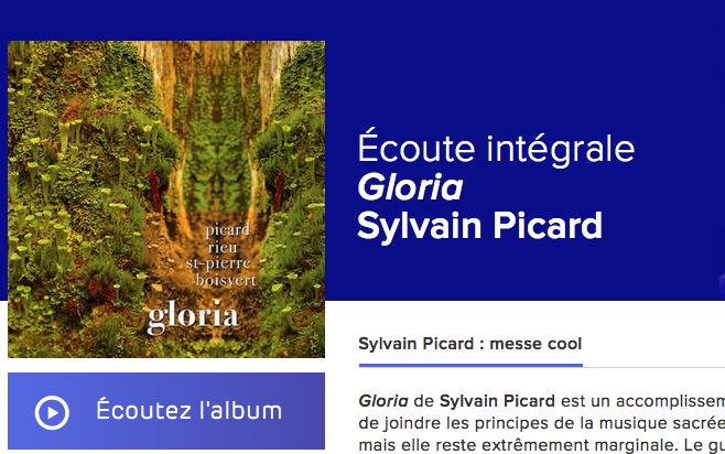 Gloria de Sylvain Picard - Écoute intégrale